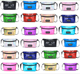 Wholesale wholesale fashion messenger bags - Pink Waist Bag laser Beach Travel Pack Fanny love pink Transparent handbag Fashion Girls Purse Belt Bags Outdoor Cosmetic Bags wallets