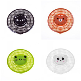 Wholesale filter covers - Tailoring Filter Net Plastic Cute Cartoon Shape Filters Screen Creative Debris Leftover Filter Cover Washroom Hair Strainer Nets 2sx Y