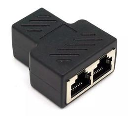 Argentina Adaptador del divisor del acoplador RJ45 1 a 2 Puerto LAN hembra dual CAT 5 CAT 6 Convertidor del extensor del cable Ethernet Suministro
