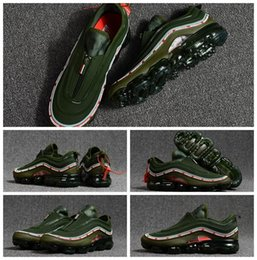 Wholesale Woven Shoes For Men - New VaporMax 97s Running Shoes Undefeated 97 Weaving Racer Ourdoor Athletic Sports training Shoes Sneakers for Men white black trainers shoe