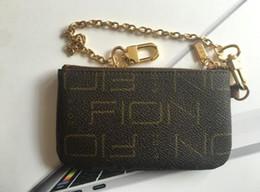 Leather coin key online-Estilo de Francia diseñador bolsa de monedas hombres mujeres dama de lujo de cuero monedero clave billetera mini billetera número de serie caja