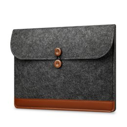 "Macbook pro 15.4 ноутбук онлайн-2017 New Fashion Laptop Sleeve 13.3"" Ultra Slim Wool Felt Sleeve Case 11""13""15"" for Macbook AIR 11.6 13.3 Pro 13 Retina 15.4"""