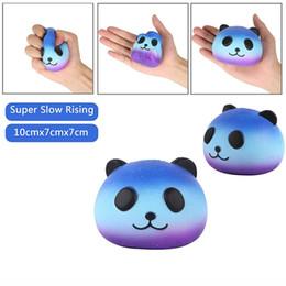 Jumbo Kawaii Starry Sky Panda Squishy Super Slow Rising Charms Squishies Pan Squeeze Bun Juguete para niños Anti Stress PU Foam Doll STS200 desde fabricantes