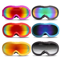 clear ski goggles Promo Codes - 2018 New Children's Cycling Ski Goggles High-definition Frame Double-layer Anti-fog Myopia Spherical Glasses Equipment