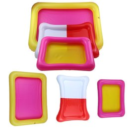 Wholesale Football Function - Square Beach Sandbox Multi Function Plastic Inflatable Sand Tray Clay Games Accessories Kid Gifts 2 4yf3 C