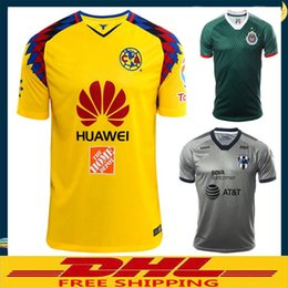 Wholesale wholesale browns jerseys - DHL Free shipping 2017 2018 LIGA MX Club America soccer Jerseys Chivas de Guadalajara Monterrey soccer Jersey Shirt Size can be mixed batch