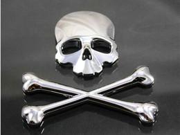 pegatinas rossi Rebajas Motocicleta 3D Crossbones insignia del emblema del logotipo del emblema del metal del cráneo etiqueta engomada del tanque