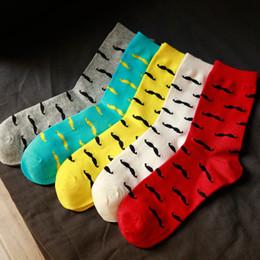 meias padrão de homens por atacado Desconto Venda Por Atacado homens meias casual algodão puro padrão de barba meias meias homens moda cor sólida engraçado feliz meias 2018 venda quente