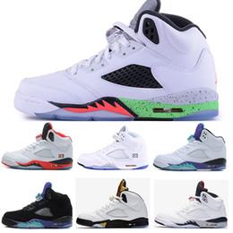 étoiles tombe Promotion Tous STAR 5 5s V chaussures de basketball PK Olympic noir ciment rouge sude haute qualité mode athlétique chaussures de sport drop shipping