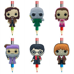 Creative Harry Potter Figure Pens stationery Office Item Kids Gifts Pen Topper Pencil Decoration Cartoon Souvenir Free Shipping
