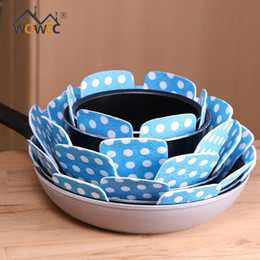 Wholesale Tools Weave Bamboo - Wholesale- WOWCC 2Pcs Non-woven Fabrics Pots Pans Separator Scratchproof Protectors for Table Pots and Pans Separator Placemat Kitchen Tool