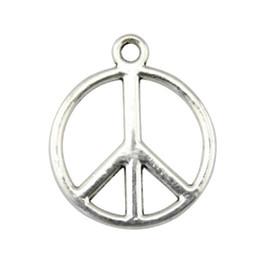 2019 fascino di simbolo di pace 10pcs fascino piccolo segno di pace pendente di fascini di pace per monili che fanno antico simbolo d'argento Charms 17x21mm