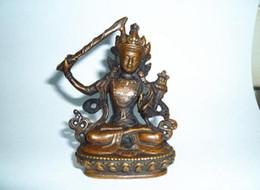 2019 tibet bronze buddha Großhandel - Tibet Buddhismus Bronze Kupfer Manjusri Kwan-Yin Bodhisattva Buddha Statue günstig tibet bronze buddha