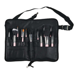 makeup holder leather case Coupons - Multi Pockets Makeup Brush Waist Bag Belt Strap Holder Cosmetic PU Leather Organizer Case Portable Cosmetic Cases Bags AB@W3