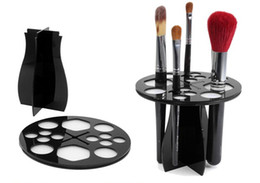 Wholesale Round Acrylic Brush - NEW ARRIVAL Useful Acrylic Cosmetic Dryer Makeup Brushes Holder Stand Cosmetic Dryer Holder Puff Eye Shadow Pen Storage