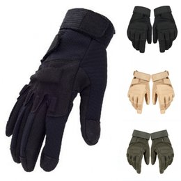 Wholesale army airsoft - Outdoor Tactical Gloves Full Finger Army Military Gloves For Cycling Motorcycle Airsoft Non-Slip Mitten Support FBA Drop Shipping G697F