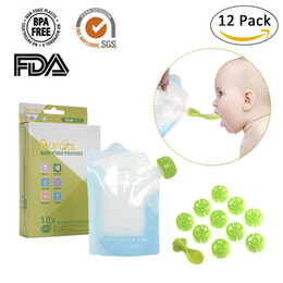 rice pouches Promo Codes - Baby Supplement Bag Double Zipper Reusable Pouch Breast Milk Bag Rice Paste
