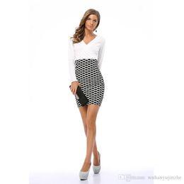 40549e6de5 2018 mujeres vestidos de trabajo otoño primavera elegante a cuadros manga  larga vestidos lápiz ropa de trabajo trajes de trabajo JC149
