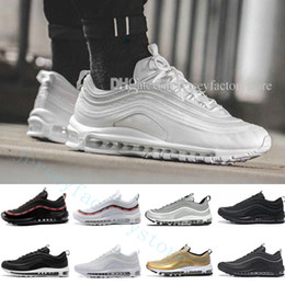Wholesale Shoes Ultralight - 97 Ultra 17 Junior Silver Bullet Mens Running Shoes Ultralight UL 97 OG Metallic Gold Silver Bullet Grey Trainers Casual Sneakers US 5.5-11