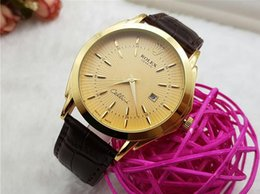Wholesale Gold Couple Watches - Super mens Lovers Women watches Luxury dress designer fashion Black Dial Calendar gold Bracelet Clasp Clasp Master Male 2018 gifts couples