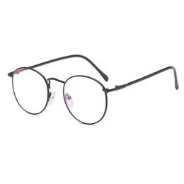Wholesale fine art framing - 2018 New Round Art Gold Fine Wire Optical Metal Spectacle Frame Women's Myopia Frame Men's plain light cosmetic glasses JW