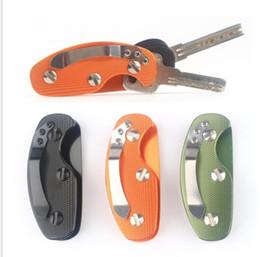 caixa de anel de alumínio Desconto EDC Alumínio Titular da Chave Organizador ClipFolder Chaveiro Chaveiro Ferramenta de Bolso Anel Chave Titular Organizador KKA4277