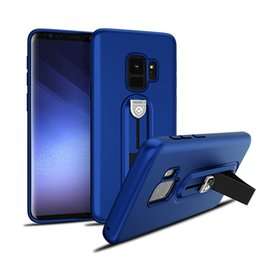 Wholesale Armor Painting - Leather Paint Holder TPU Shockproof Armor Case Ring Holder Moblie Phone Case For Iphone X 7 7 PLUS 6 6 PLUS Samsung Note8