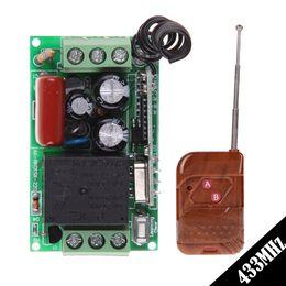 module de relais unique Promotion Nouveau AC 220V 1CH 433 MHz Télécommande universelle avec commutateur à 2 boutons Télécommande sans fil Système de commutation Récepteur