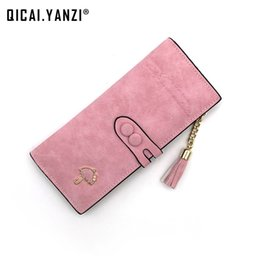 Wholesale Blue Umbrella Short - 8 Colors Women Long Wallets Ladies Cute Umbrella Coin Purses Large Capacity Tassels Zipper Clutches Fashion Card Holder Bag N532