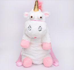 Wholesale Stuffed Animal Backpacks Children - Unicorn Cute Plush Backpacks 50CM Cartoon Animal Doll Soft Stuffed Toy Children Kid Fluffy Bag