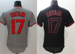 jerseys de uniforme de béisbol Rebajas Nuevo Los Ángeles # 17 Shohei Ohtani Mens Béisbol Vintage Elite Team Team Jerseys Uniformes Camisetas Costura Bordado a la Medida Barato En Venta
