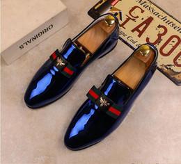 2019 nuovo stile moda uomo vestito scarpe in pelle italiana slip on moda uomo in pelle mocassino scintillio formale scarpe maschili scarpe a punta