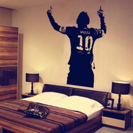 60 * 42 cm Messi Adesivo Poster Ragazzi Camera Calcio Giocatore di Calcio Argentina Leo Creativo Vinile Adesivo Murale Home Decor da carta da parati della stanza delle ragazze all'ingrosso fornitori