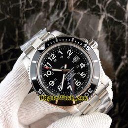 Wholesale gents bracelets - Brand Diver Super Ocean II A17392D7 BD68 162A Black Dial Automatic Mens Watch Silver Case Stainless Steel Bracelet Luxury Gents Watches