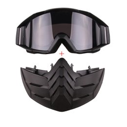 Wholesale open visions - Open Face Helmet Windproof Mask Motorcycle Goggles Outdoor Sunglasses Night Vision