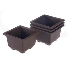 Wholesale types flower pots - 6 Types Size Retro Basin Plastic Flower Pot Balcony Flower Bonsai Planter Nursery Pots Maceta Cuadrada for Garden