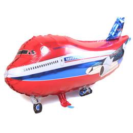Helicópteros grandes juguetes online-avión grande mylar foil globo helicóptero inflable niño helio avión globos fiesta decoración avión juguetes juguetes globos