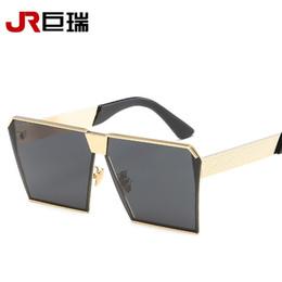 2019 flache schutzbrillen Mens Goggle Big Size Sonnenbrille Flat Top Frame Frauen Sonnenbrille Windproof Gläser UV400 mit Case Square Eyewares Objektiv günstig flache schutzbrillen