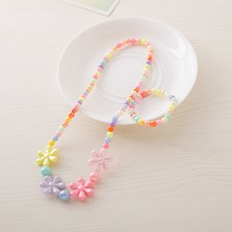 candy bracelet accessories Coupons - Baby Girls Accessories Colorful Color Bead Necklace Jewelry Multi-color Candies Bead Children Necklace Bracelet Set