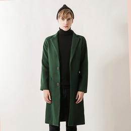 2017 neue Winter Woolen lange Peacoat Männer Slim Fit Mantel Herren Warm  Business Trenchcoat für Männer Armee Grün Windbreaker Blends günstig grüner  mantel ... 7ce383d577