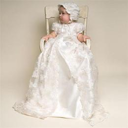 Robes de première communion bijou une ligne arc perles dentelle appliques coiffé longueur cheville baptême tenues enfant fille formelle porter avec bonnet ? partir de fabricateur