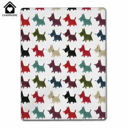 Wholesale Custom Printed Fleece - CHARMHOME Custom Printed with Colorful Dogs for Kids Adults Throw Blanket Super Soft and Fleece Blanket for Couch Sofa or Bed