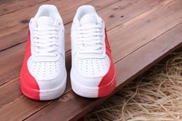 2018 New White Black Red Split Air 1 Scarpe da skateboard Yin Yang Tai Chi Scarpe da ginnastica da uomo Sneakers Red Orange Split Scarpe da ginnastica Zapatillas da
