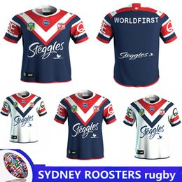 Wholesale Australia Army - 2018 NRL JERSEYS SYDNEY ROOSTERS home Rugby 2017 Hot sales Australia Sydney Roosters football jersey Rugby Jerseys shirt size S-3XL
