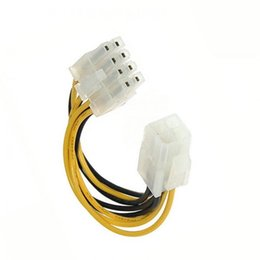 Wholesale 12v Pin Adapters - 4 Pin 12V Male to 8 Pin 12V CPU Power Supply Adapter Converter ATX Cable 12V XXM