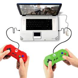 verdrahtete gamecontroller Rabatt 2018 Wired Gamepad ohne Vibration 5 Farbe USB Gamepad Game Controller Joysticks Spiel Zubehör Support Großhandel