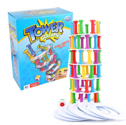 Wholesale fun long - Hot toy interesting tower collapse suck stick board game punishment children puzzle fun toys WJ 01