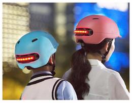 2018 Moda Nueva Xiaomi Smart4u Impermeable Bicicleta Inteligente Cascos de Flash Mate de Uso Largo Casco Luz Trasera Mountain Road Scooter Para Hombres Mujeres desde fabricantes