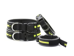 Wholesale Extra Strong - Strong Rope Dog collar for Small,Medium and Large Dogs - Heavy Duty Nylon, reflect light with safe in night
