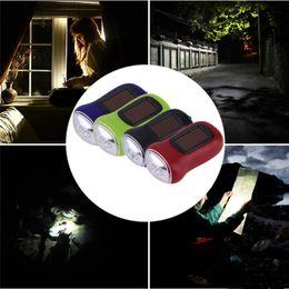 portable crank flashlight Australia - Portable LED Hand Crank Dynamo Solar Power Flashlight Torch Outdoor Camping Mountaineering Night Linternas